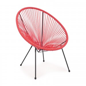 Poltrona Parker Rossa Outdoor giardino design chair bar lounge spiaggia