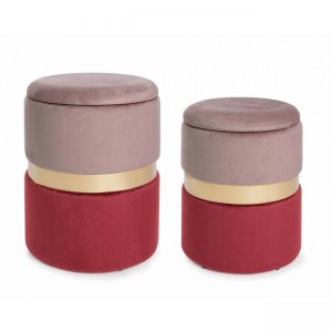 Bizzotto Polina 2 Pouf Set...