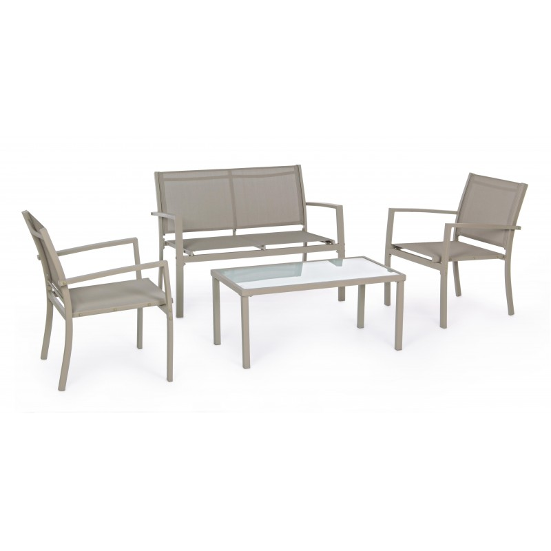 Yes - Bizzotto Trent Living Room Set Chair Sofa Small Table Turtle Dove color